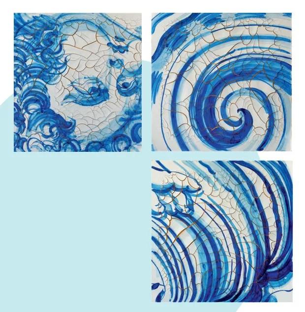 Mundo afora: Marca registrada do trabalho de ADRIANA VAREJÃO desde que ingressou nas artes, em 1988, os azulejos são novamente os protagonistas de sua mais recente exposição, em Roma. Chamada Azulejão, a mostra, na galeria Gagosian, segue em cartaz até 1o de dezembro. (Foto: Divulgação)