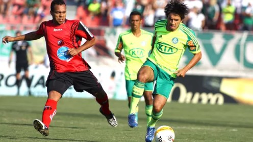 Thiago Real jogo Palmeiras Ituano (Foto: Marcos Bezerra / Ag. Estado)