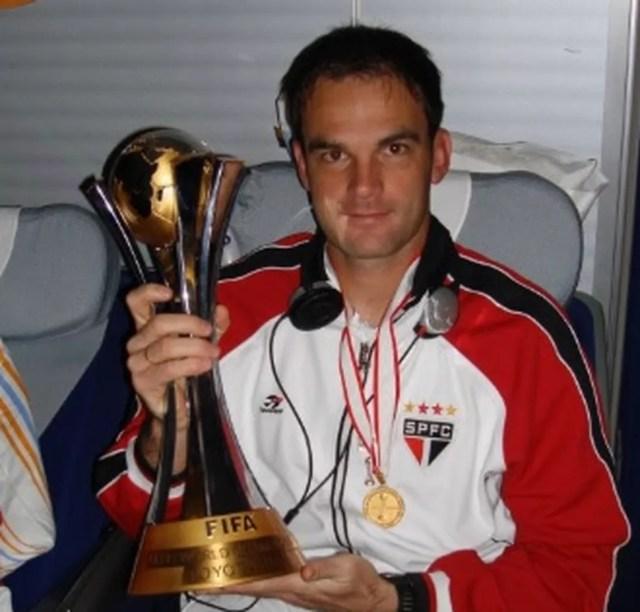 Flavio Kretzer foi o terceiro goleiro do São Paulo no Mundial de 2005 — Foto: Arquivo Pessoal