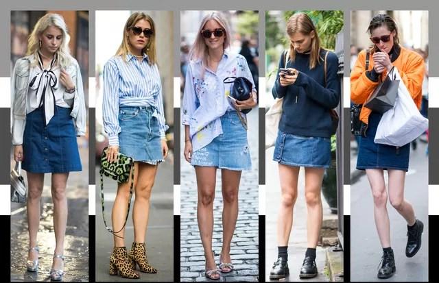 Saia jeans (Foto: Arte Vogue Online)