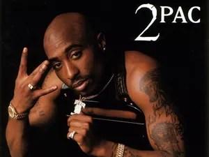 Tupac Shakur na capa do disco 'All eyez on me', de 1996 (Foto: Reprodução)