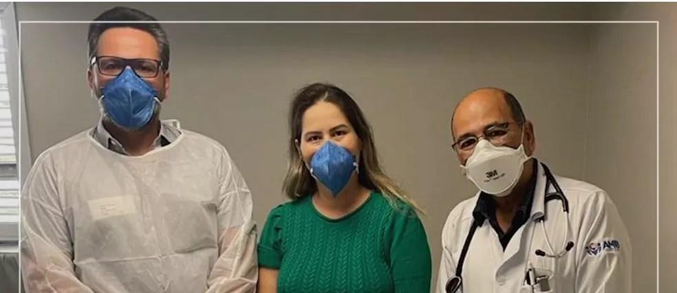 Deputado agradeceu profissionais de saúde — Foto: Reprodução