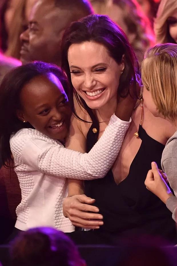 Zahara Jolie-Pitt, Angelina Jolie e Shiloh Jolie-Pitt (Foto: Getty Images)