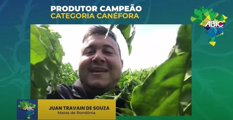 Produtor de Cacoal (RO), Juan Travain.  — Foto: Reprodução