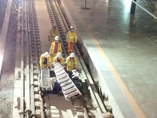Obras já estão praticamente concluídas na estação da Rocinha (Foto: Fernanda Rouvenat / G1)