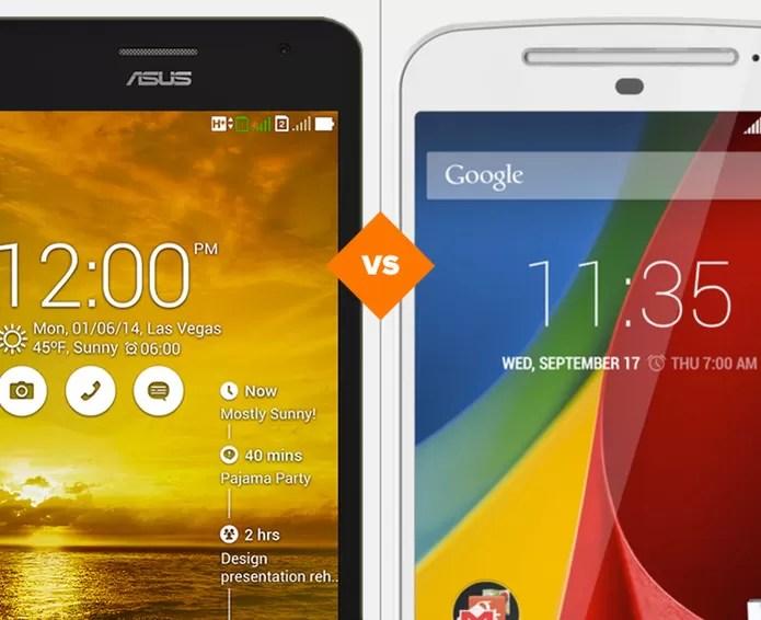 Zenfone 5 ou Moto G? Veja qual smartphone leva a melhor no comparativo (Foto: Arte/TechTudo)