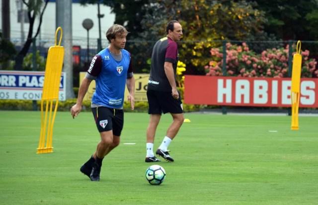 Lugano foi bem nas chances que recebeu de Ceni nesta temporada (Foto: Erico Leonan / site oficial do SPFC)