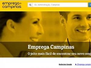 Portal de vagas Emprega Campinas (Foto: Reprodução / Site)