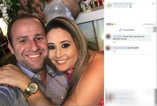 Casal Roberto Santos Oliveira e Erica Cristina Carpi Oliveira foi preso pela PF em Jales — Foto: Reprodução/Facebook