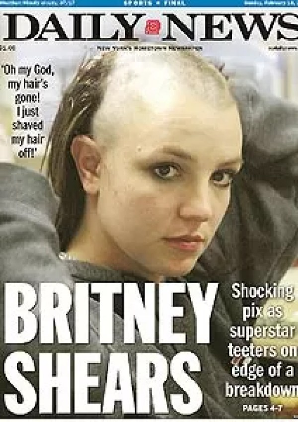 Newspaper cover about Britney Spears' collapse in 2007 (Photo: Reproduction)