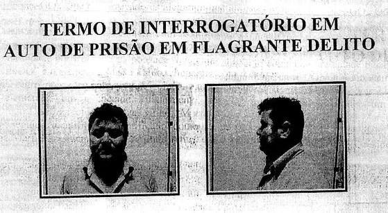Imagem da prisão em flagrante de Cleonor Avelino. Depois, ele foi solto pelo STJ e voltou a ser preso pela PF (Foto: Reprodução)