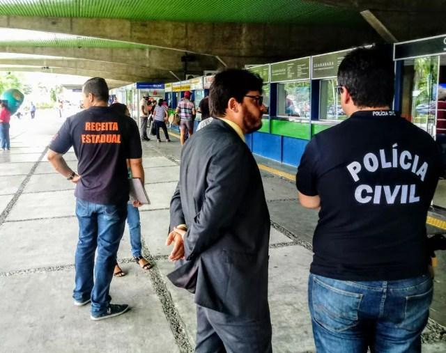 Operação 'Bilhete Legal' tem como objetivo desarticular possível esquema na emissão de bilhetes de passagem eletrônicos em rodoviárias da PB — Foto: Divulgação/Receita Estadual da Paraíba