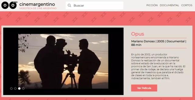 Conforme indica o nome, Cinema Argentino pretende trazer visibilidade para a produção audiovisual do país — Foto: Reprodução/TechTudo