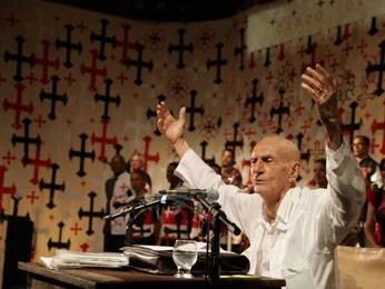 Ariano Suassuna em aula-espetáculo (Foto: Divulgação / Roberta Guimarães)