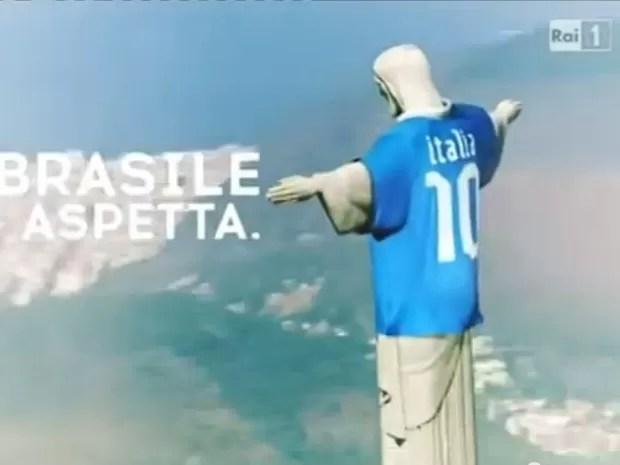 Propaganda da RAI sobre a Copa no Brasil (Foto: Reprodução)