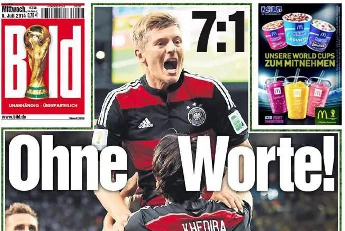 Capas jornais Alemães  (Foto: Reprodução )