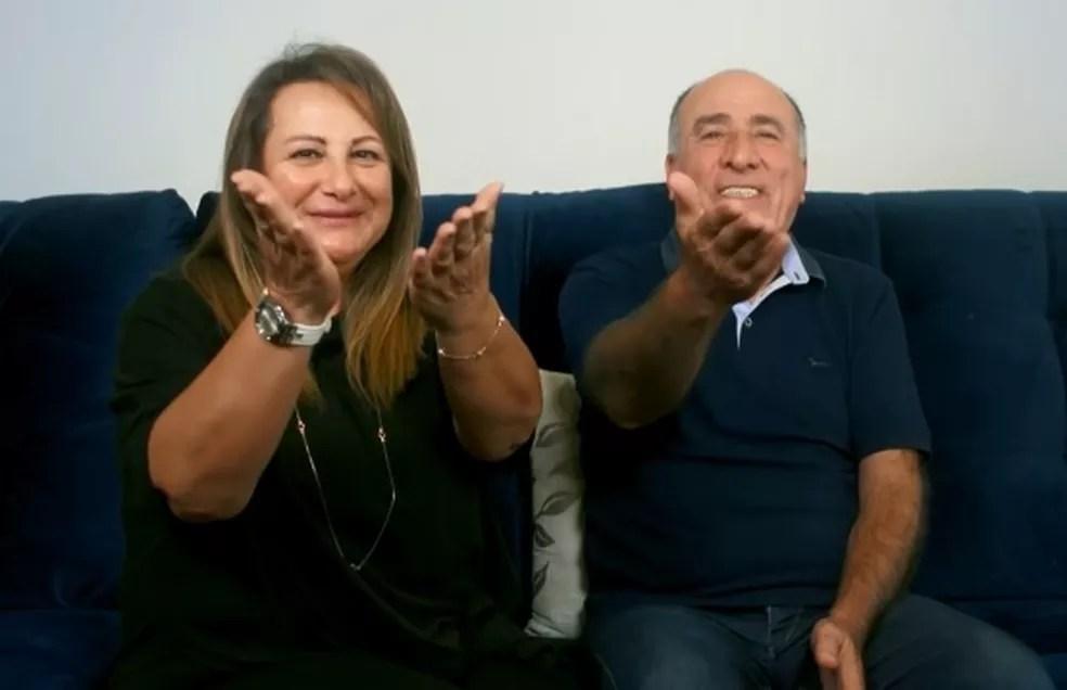 Pais de Kaysar  — Foto: Reprodução/TV Globo
