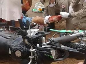 Um estudante também teve ferimento e foi levado ao hospital. (Foto: Divulgação/Corpo de Bombeiros)