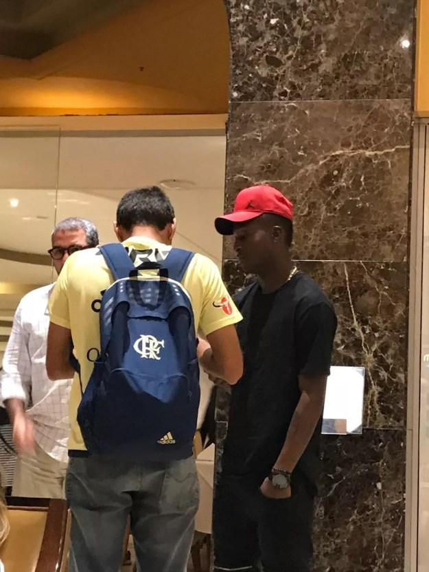 Marlos Moreno já está no Rio para realizar exames médicos e assinar pelo Flamengo (Foto: Leonardo Bueno/GloboEsporte.com)