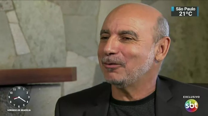 Fabricio Queiroz durante entrevista ao SBT — Foto: Reprodução/SBT