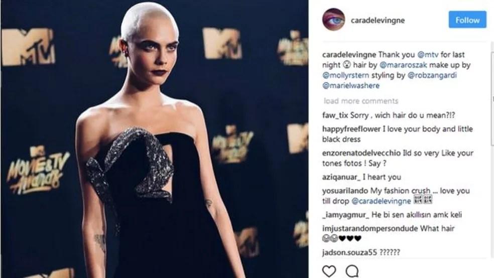 Cara Delevingne se tonou uma musa da moda e do cinema. E também cobra para publicar conteúdo no Instagram (Foto: Reprodução/Instagram/Cara Delevigne)