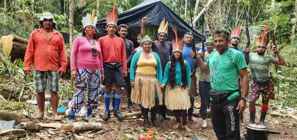 Povo Nawa teme perda de terras por causa de invasões — Foto: Cedida