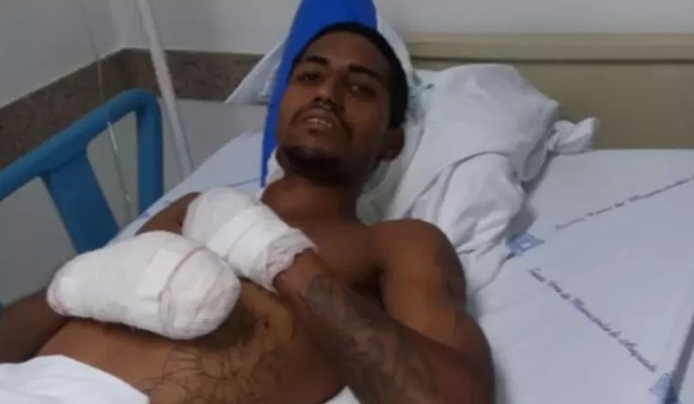 Morador de Araçatuba foi atingido por explosivo deixado pro criminosos que atacaram bancos na cidade — Foto: Arquivo Pessoal