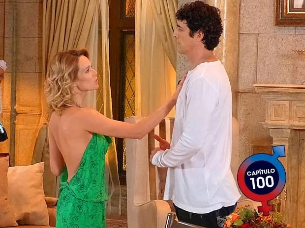 Juliana capricha no look para assumir para Nando o que sente por ele (Foto: Guerra dos Sexos / TV Globo)