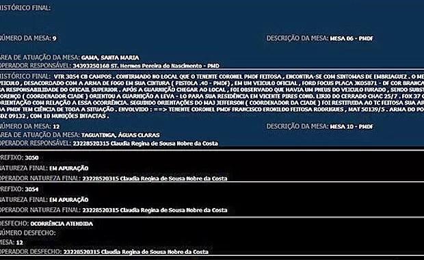 G1 teve acesso, com exclusividade, a uma cópia da ocorrência que cita o nome do tenente-coronel Francisco Eronildo Feitosa Rodrigues. (Foto: G1 / Reprodução)