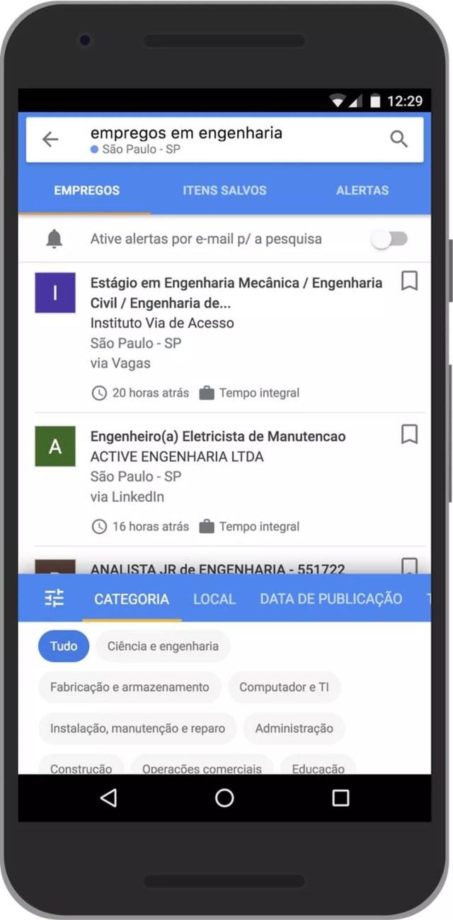 Google lança no Brasil serviço que reúne vagas de emprego anunciadas na internet
