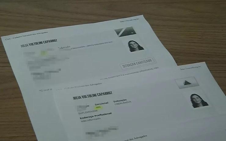 Advogada é apontada pela Justiça como a maior fraudadora no Estado contra a Justiça Especial (Foto: Reprodução/TV TEM)