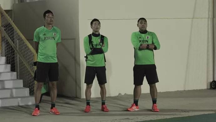Japoneses acompanham jogo pela Série C em Aracaju (Foto: Osmar Rios)