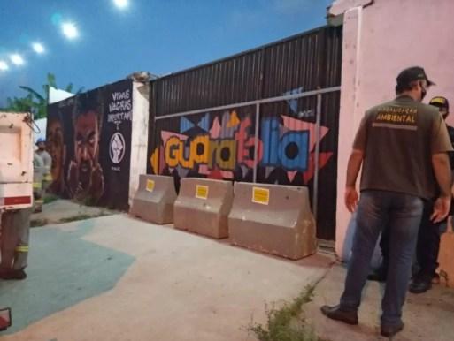 Casa de eventos no bairro Guarapes, na Zona Oeste de Natal, foi interditado — Foto: Divulgação