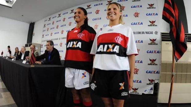 Caixa apresenta patrocínio ao Flamengo (Foto: Alexandre Vidal / Fla Imagem)