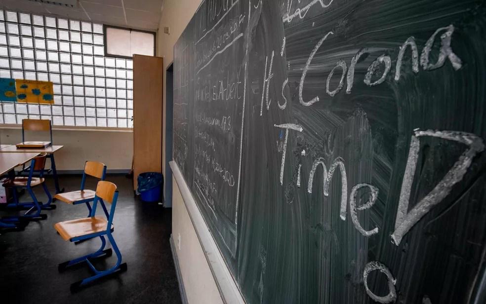Covid-19: duas escolas foram fechadas na Alemanha logo após reabertura — Foto: AP Photo/Michael Probst