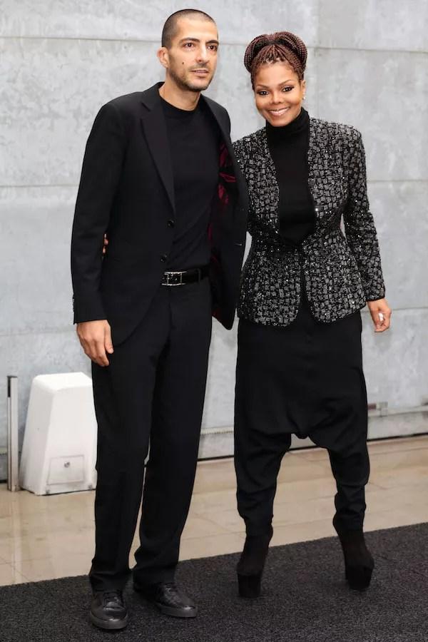 A cantora Janet Jackson com o marido, o empresário Wissam Al Mana (Foto: Getty Images)