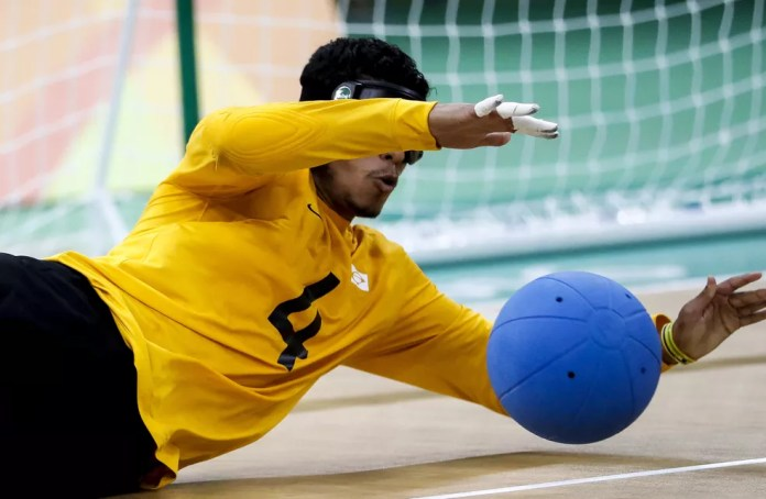 Leomon é destaque brasileiro do goalball — Foto: Washington Alves/MPIX/CPB