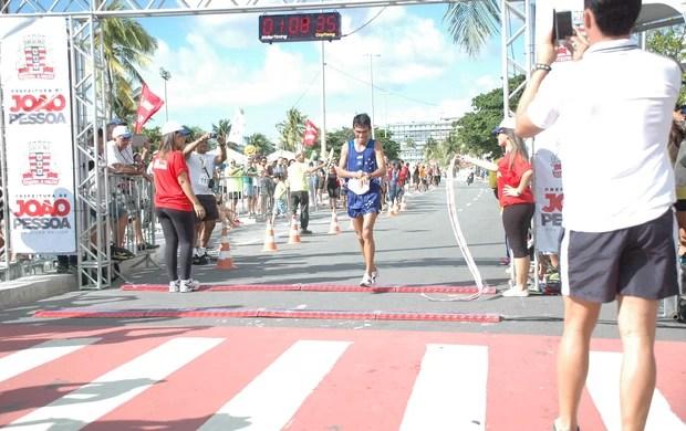 Marco Antônio, Meia Maratona de João Pessoa, Paraíba (Foto: Larissa Keren / globoesporte.com/pb)