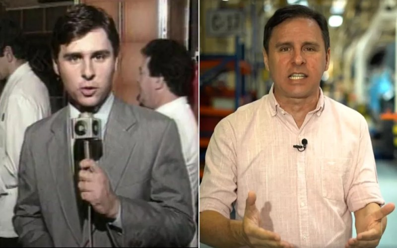 Marcelo Canellas foi repórter da EPTV Ribeirão no início da carreira e atua no Fantástico e outros programas da Rede Globo. — Foto: Arte/G1