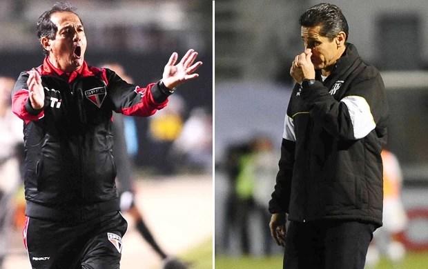 Muricy Ramalho x Jorginho (Foto: Marcos Ribolli / Globoesporte.com)
