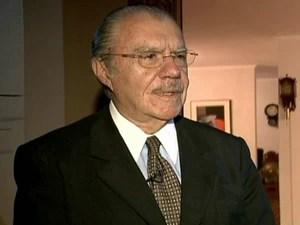 José Sarney (Foto: Reprodução Globo News)