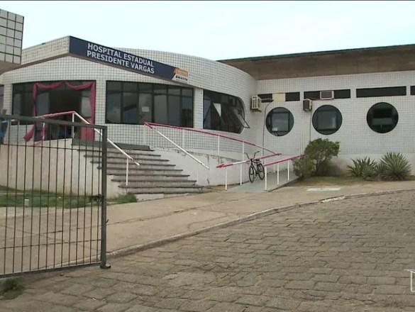 Hospital Presidente Vargas em São Luís (MA) (Foto: Reprodução/TV Mirante)