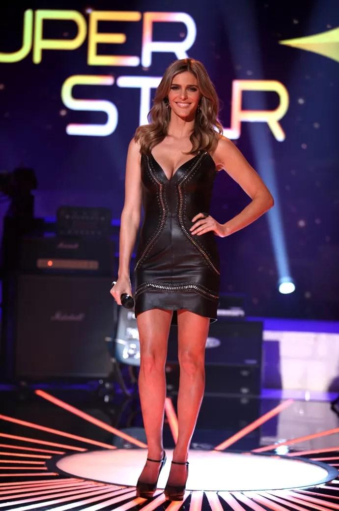 Super Sexy, Fernanda Lima lembra a 'Mulher Gato' no Top 9 do SuperStar (Foto: Fabiano Battaglin/Gshow)
