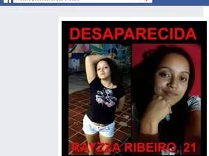 Rayzza Ribeirou desapareceu depois que saiu de um evento no Colégio Miguel Couto, que está ocupado, em Cabo Frio (Foto: Reprodução/Facebook)