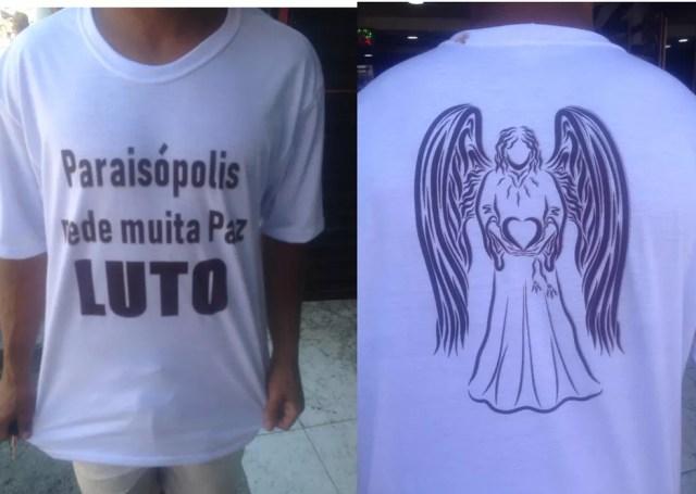 Camiseta usada para homenagear vítimas de ação da PM que deixou nove pessoas mortas no dia 1° — Foto: Arquivo Pessoal
