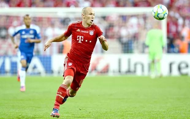 Robben na final da Liga dos Campeões entre Bayern e Chelsea (Foto: AFP)