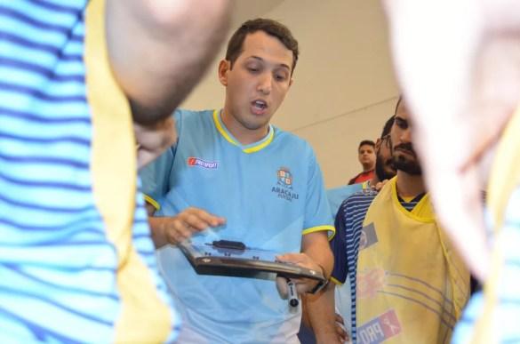 Davi Mendonça é o novo técnico do Lagarto Futsal (Foto: Thiago Barbosa)