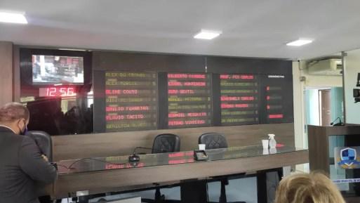 Vereadores votaram reajuste nesta quarta-feira (30) — Foto: Isaiana Santos/Inter TV Costa Branca