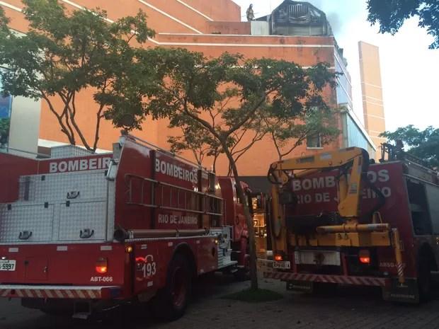 Incêndio no Downtown (Foto: Aline Pollilo/EGO)
