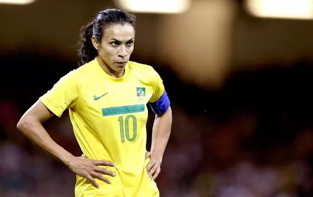 Marta na derrota do Brasil para o japão no futebol (Foto: AP)